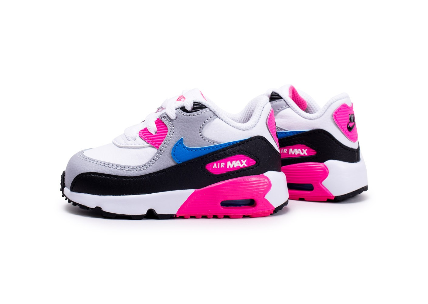 Nike Air Max 90 Leather blanc rose bleu bébé Chaussures