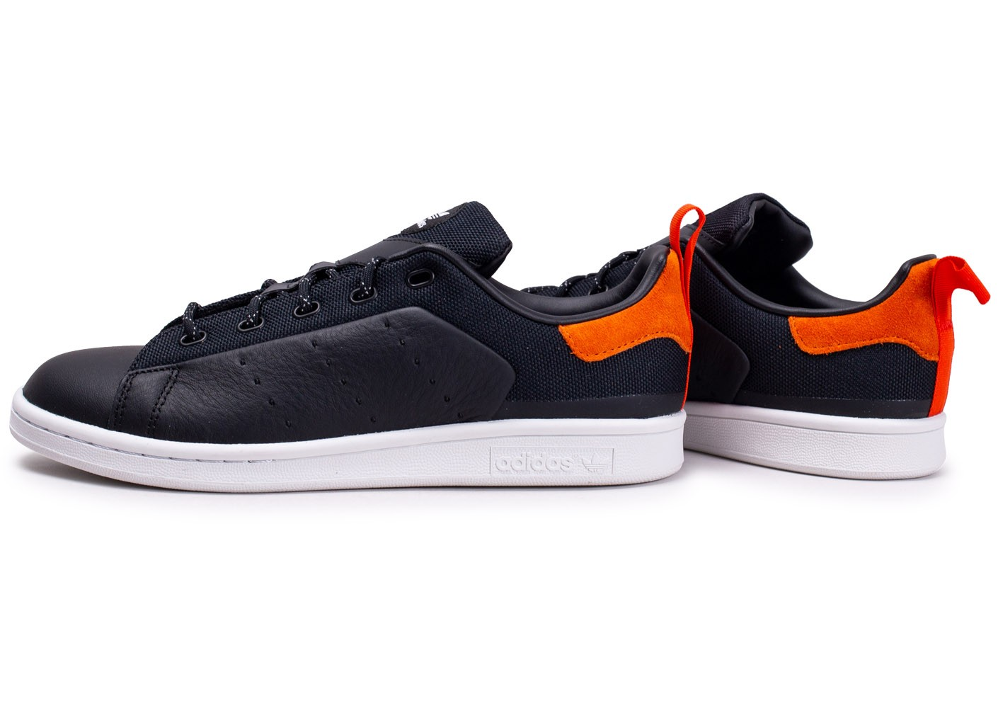 adidas Stan Smith noire et orange - Chaussures Baskets homme ...