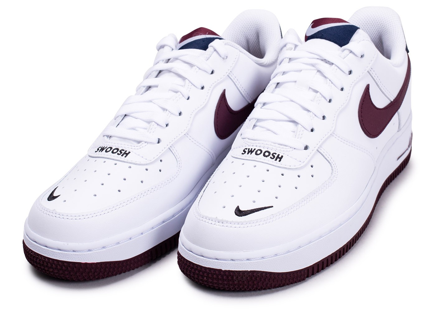 Nike Air Force 1'07 blanc marron bleu Chaussures Baskets