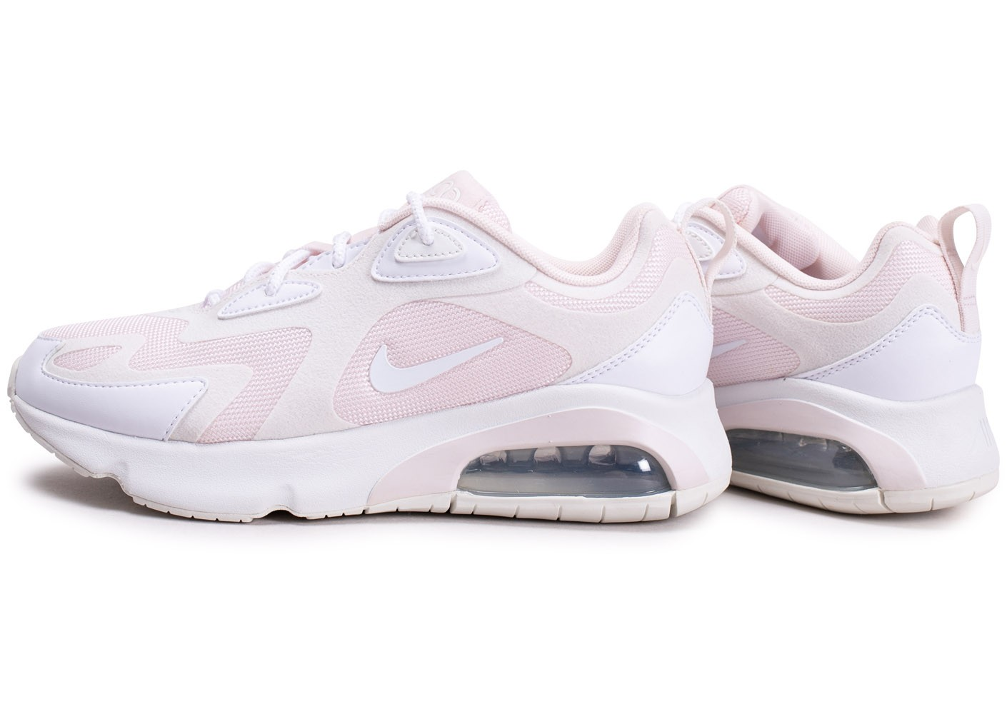 Nike Air Max 200 blanche et rose femme - Chaussures Baskets ...