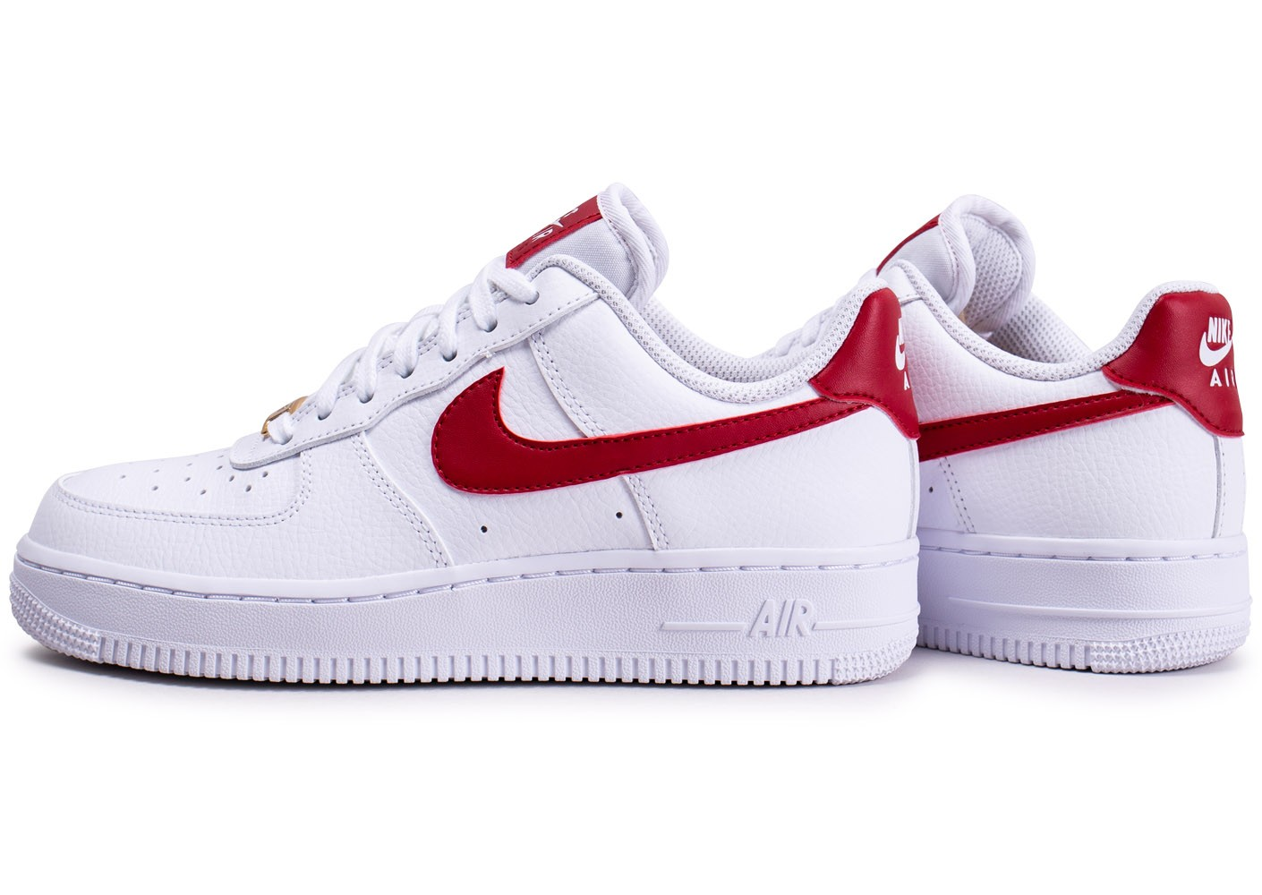 lower price with latest discount available Nike Air Force 1'07 blanche rouge et or femme - Chaussures Baskets ...