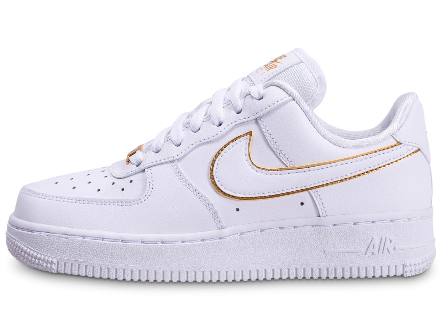 nike air force 1 femme blanc or