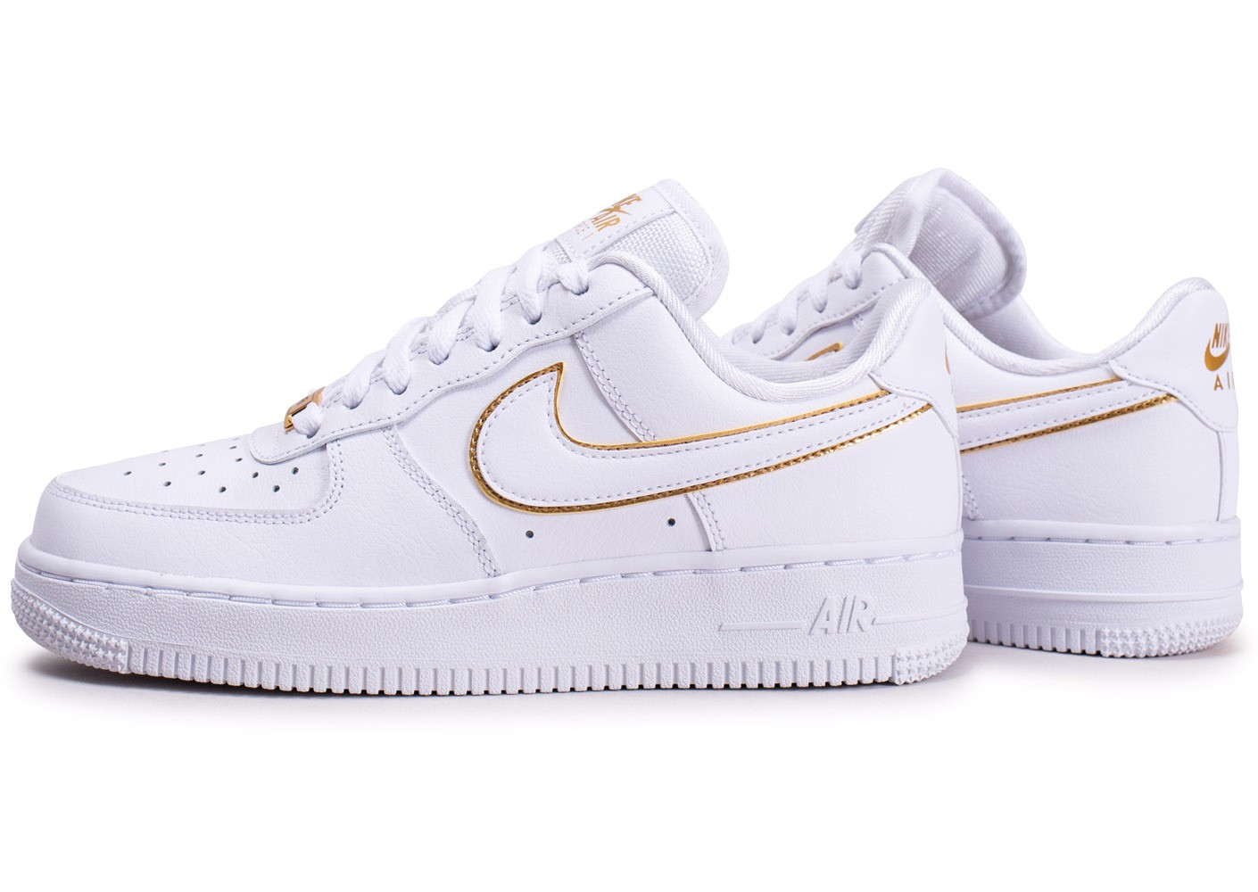 Nike Air Force 1'07 Essential blanche et or femme ...