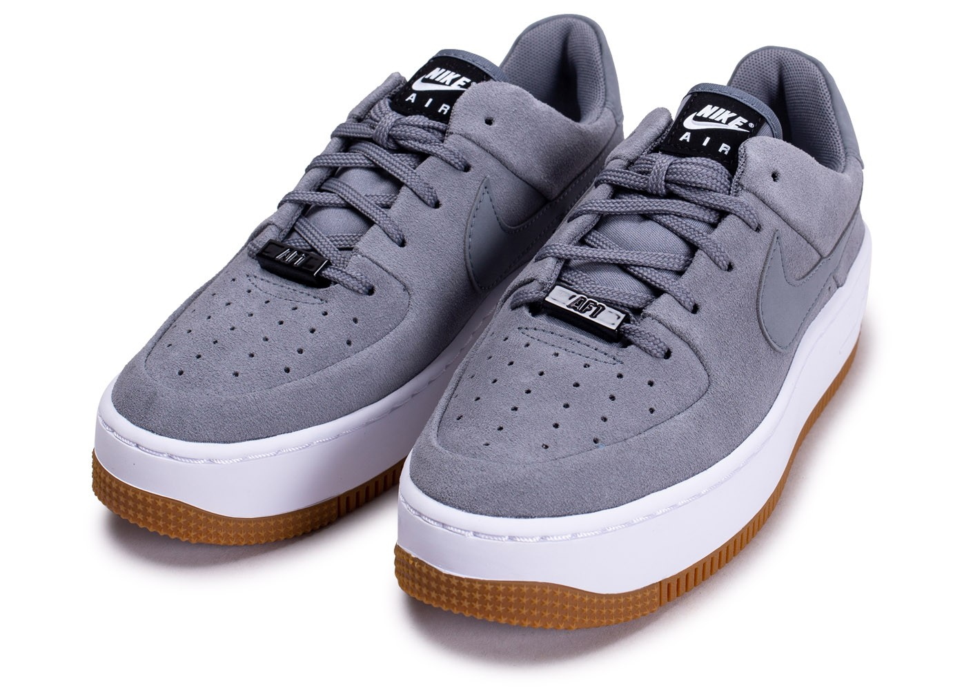 Nike Air Force 1 Sage grise Chaussures Prix stylés Chausport