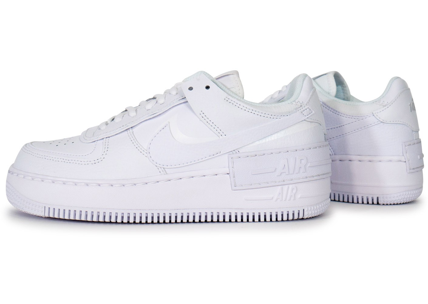 Nike Air Force 1 Shadow triple blanc femme - Chaussures ...
