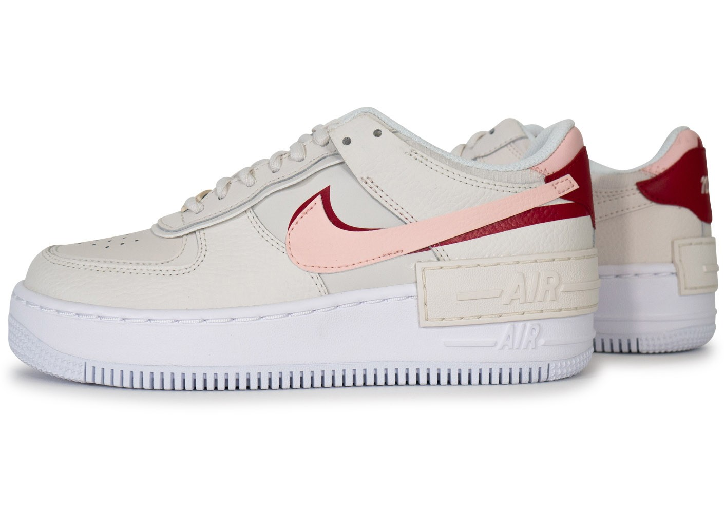 Nike Air Force 1 Shadow Phantom rose et rouge femme ...