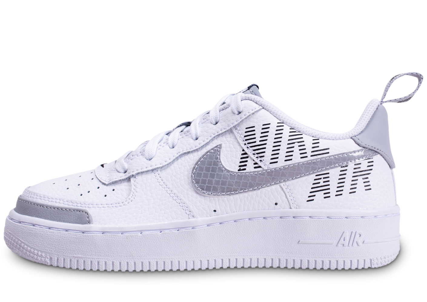 Nike Air Force 1 Under Construction blanche et grise junior