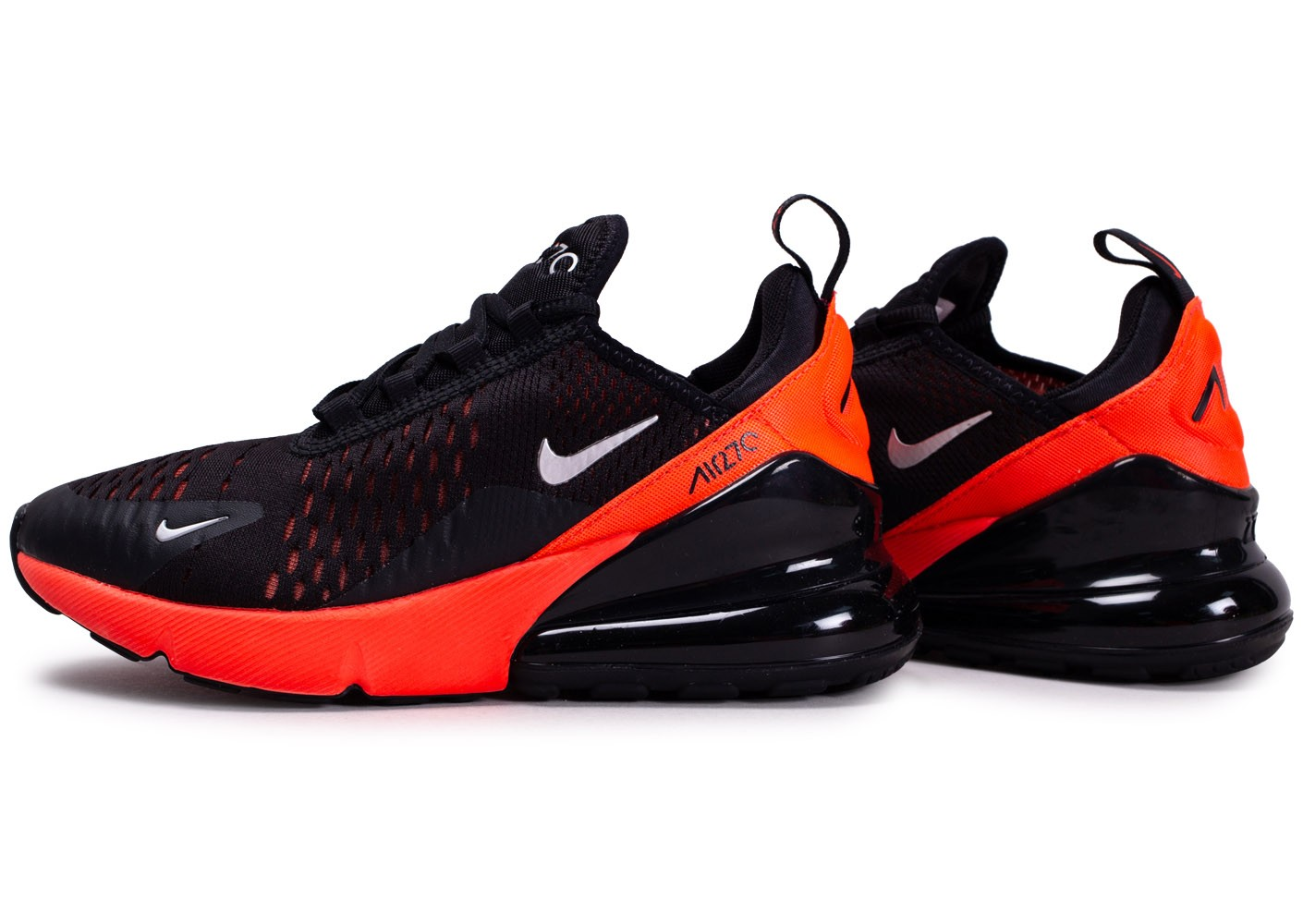Nike Air Max 270 Noire Bright Crimson junior Chaussures