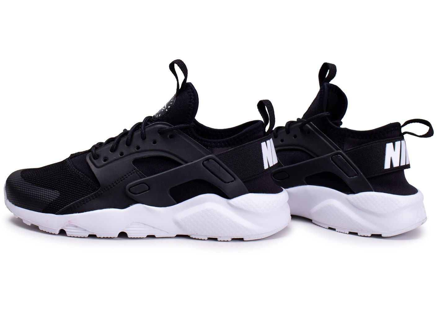 Nike Air Huarache Run Ultra noire et blanche junior ...