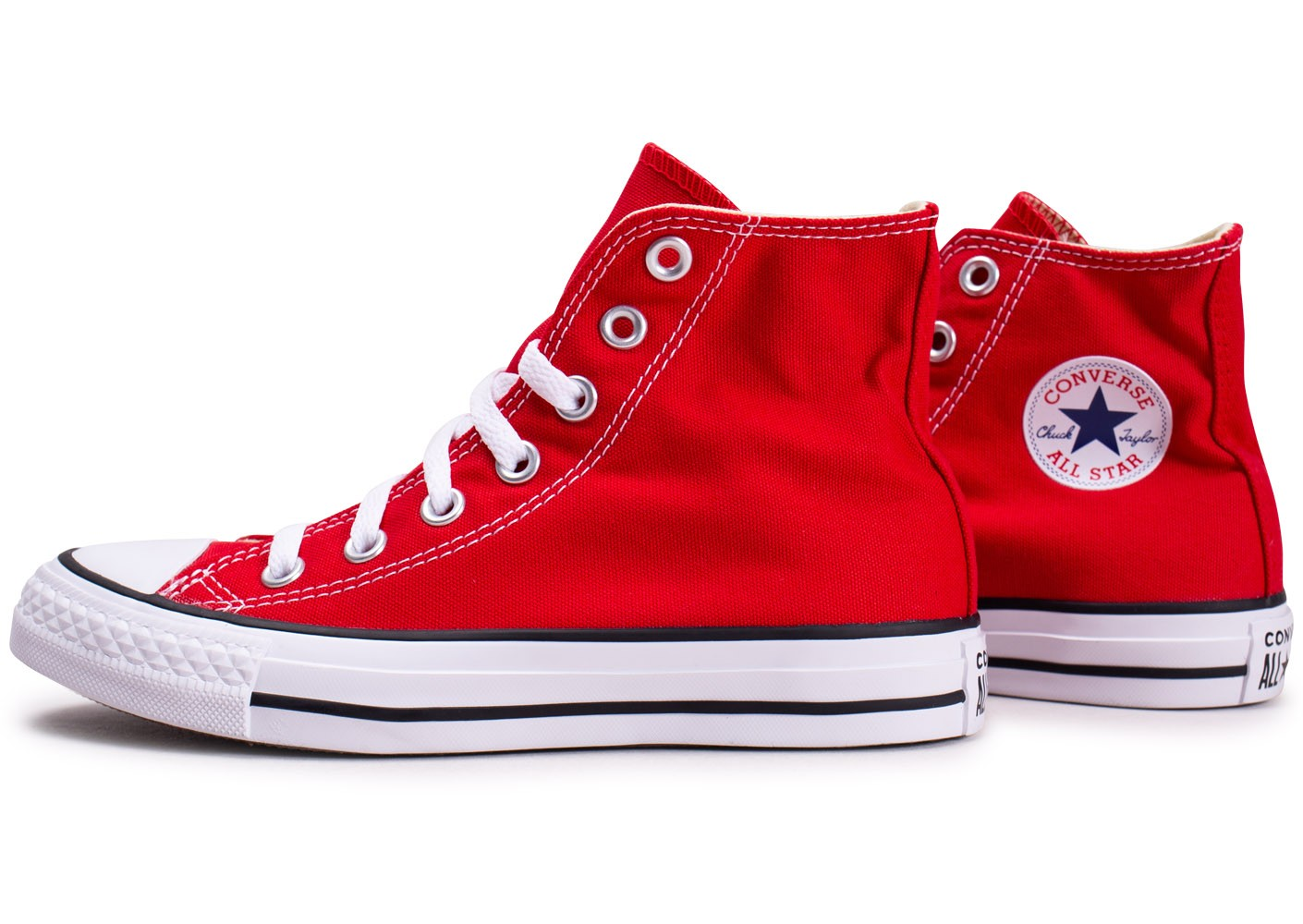 Converse Chuck Taylor All Star Hi rouge femme - Chaussures ...