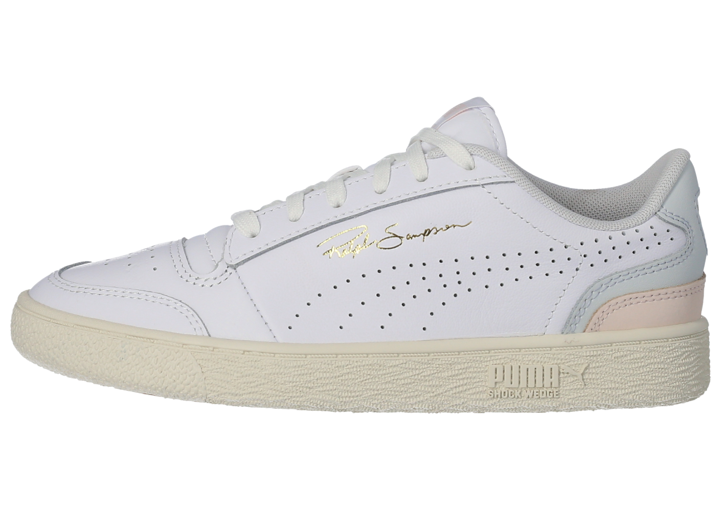 Puma Ralph Sampson Lo Perforated Soft blanc Femme - Chaussures ...