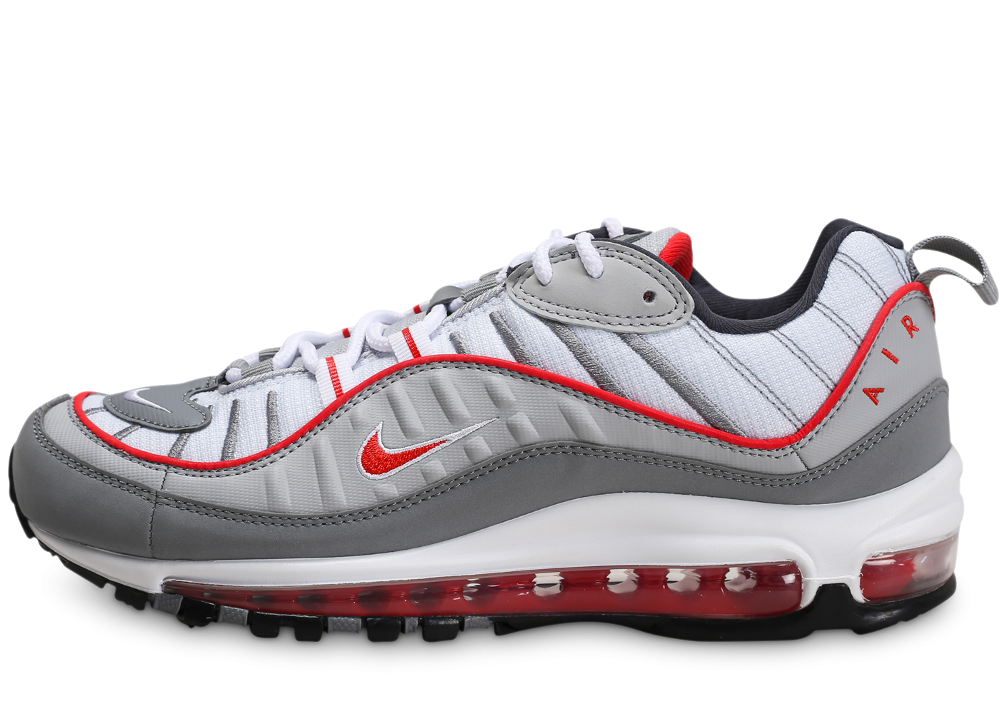 Nike Air Max 98 gris rouge - Chaussures Baskets homme - Pochta