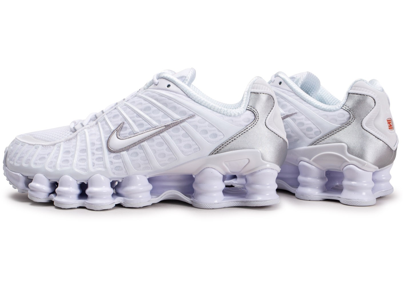 Nike Shox TL blanc argent Chaussures Baskets homme Chausport