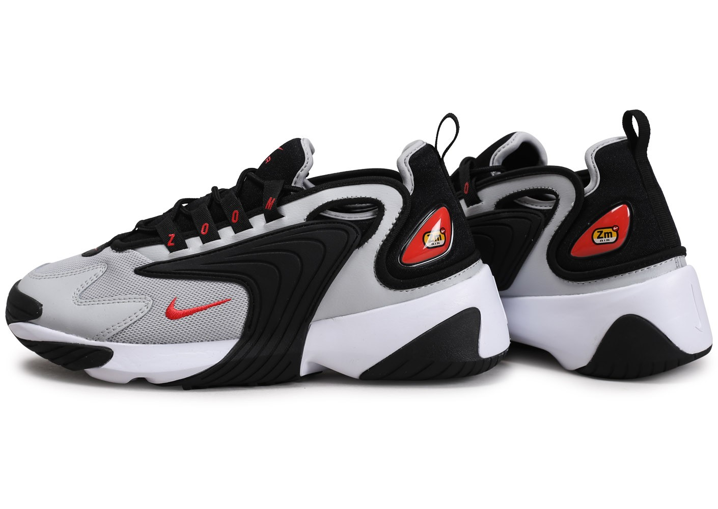 Nike Zoom 2K noir rouge blanc Chaussures Baskets homme