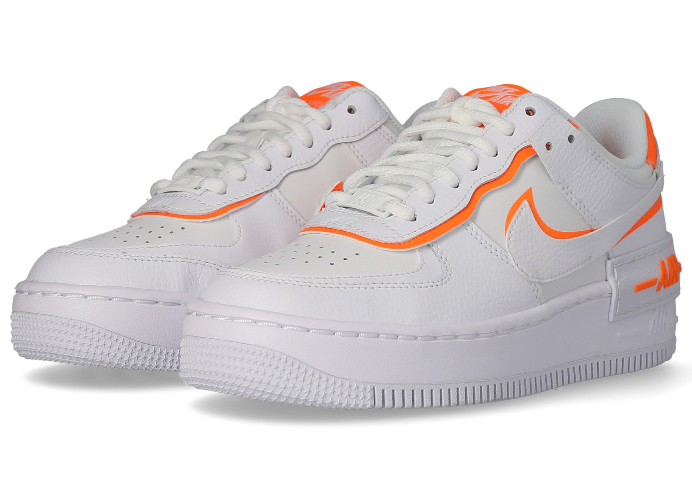 Nike Air Force 1 Shadow blanc orange Femme Chaussures