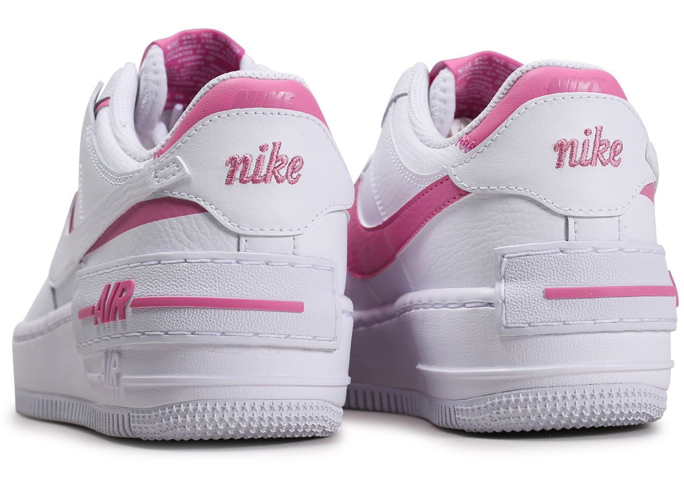 nike air force 1 shadow blanche et rose femme