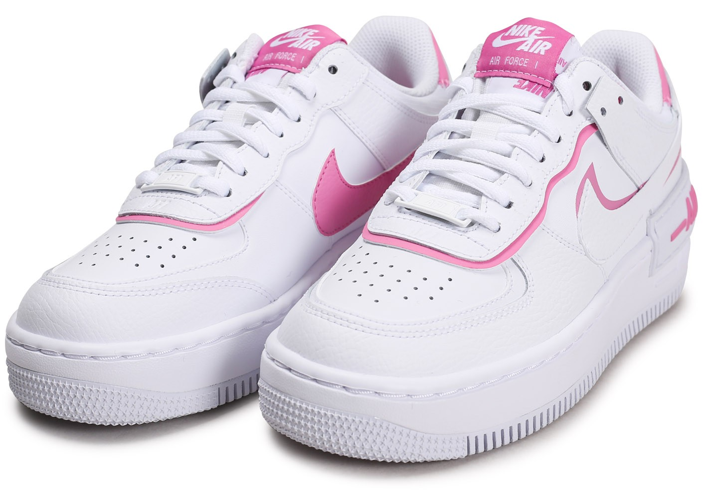 Nike Air Force 1 Shadow blanc rose Femme Chaussures