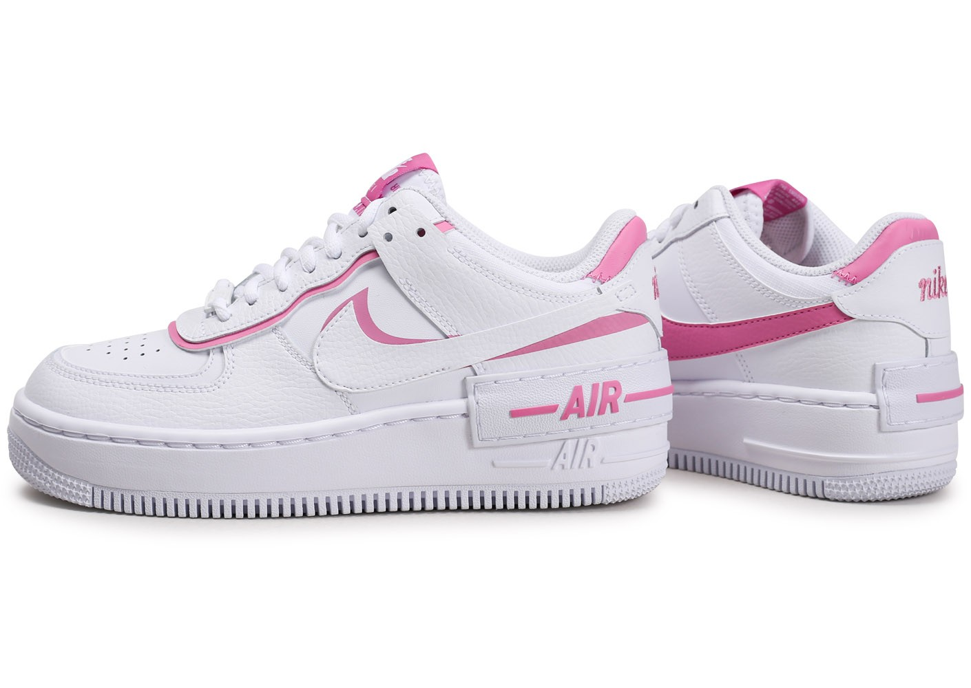 Nike Air Force 1 Shadow blanc rose Femme - Chaussures ...