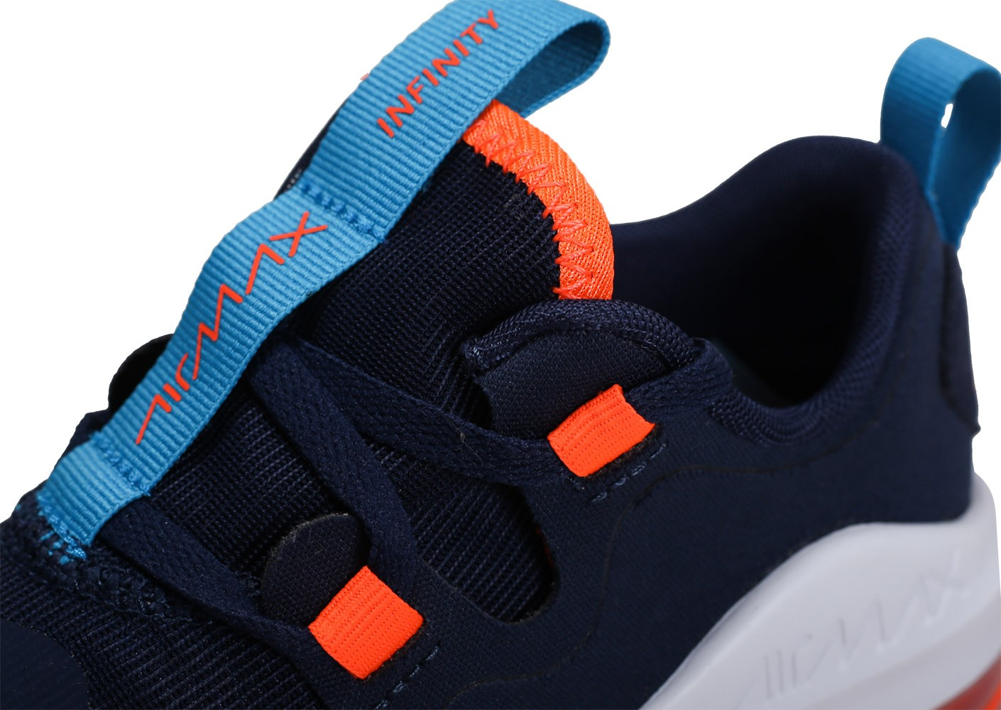 Nike Air Max Infinity bleu marine orange Junior Chaussures