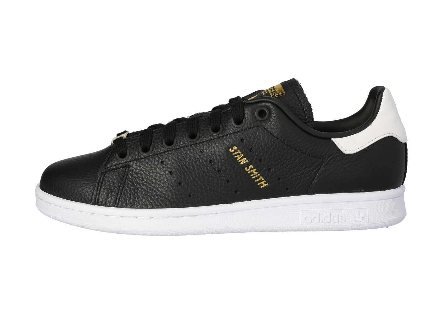 adidas Stan Smith noire blanche et or Chaussures Baskets