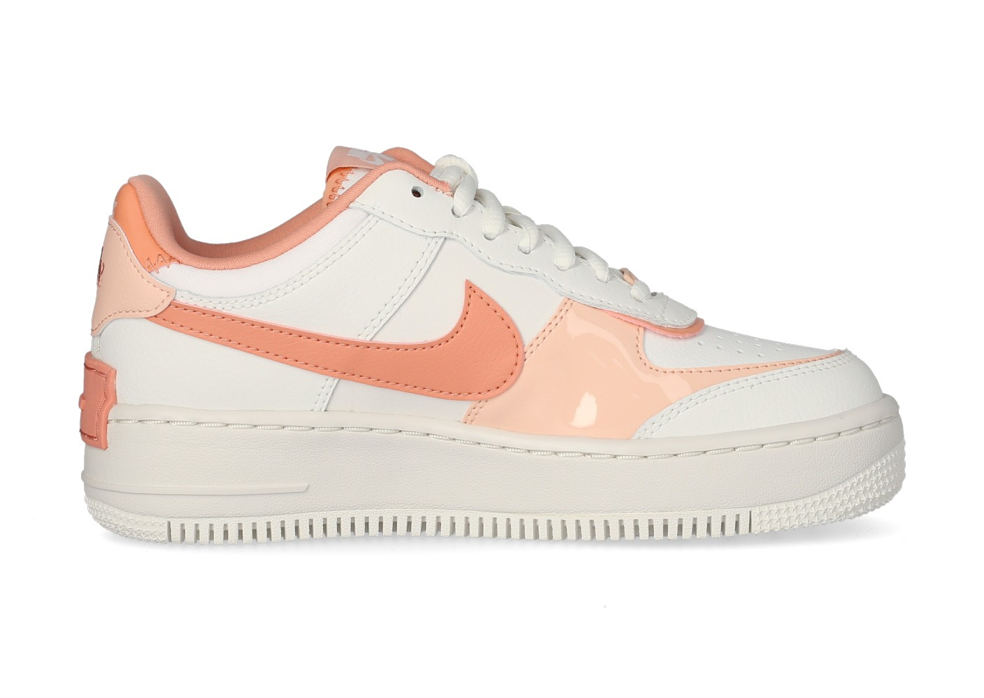air force 1 shadow rose et blanche femme