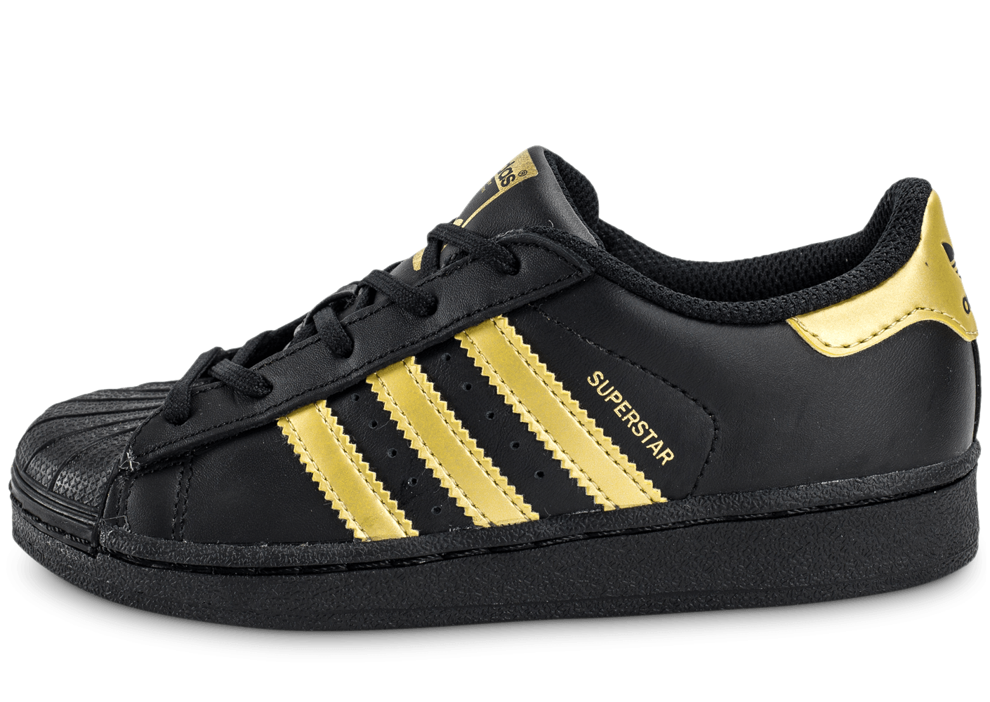 f698279f64efd adidas Superstar Enfant Black Gold - Chaussures adidas - Chausport