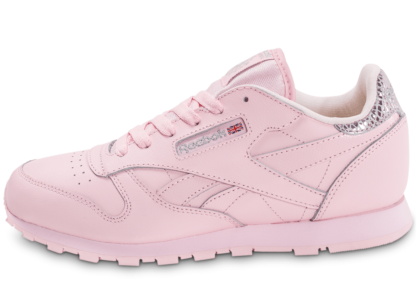 reebok classic leather metallic rose chaussures toutes les baskets sold es chausport. Black Bedroom Furniture Sets. Home Design Ideas