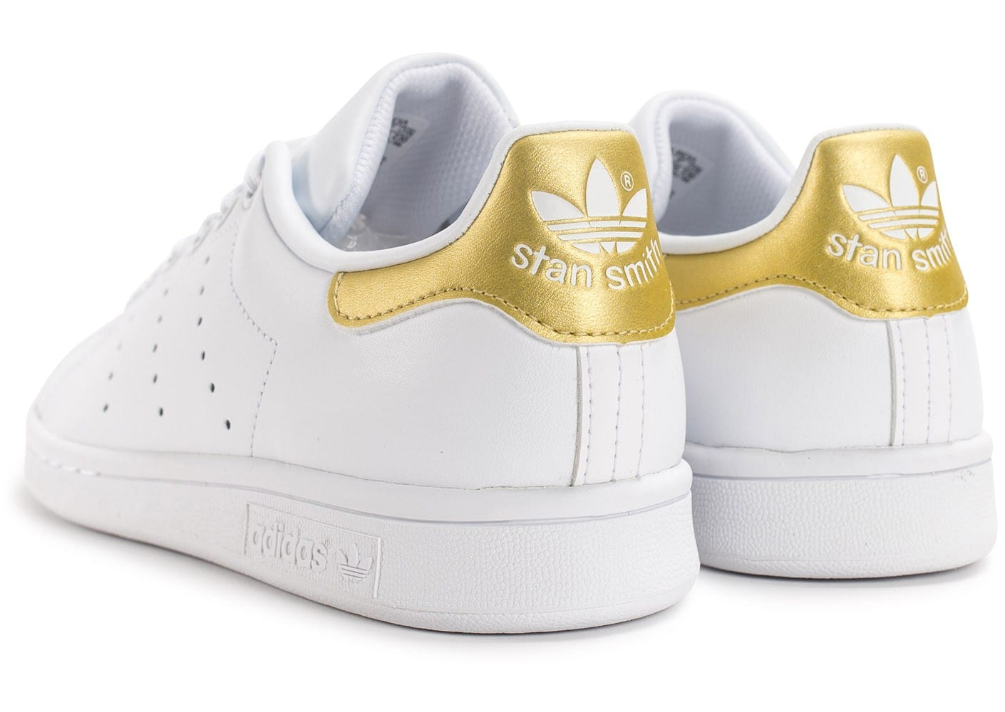 stan smith blanc doré