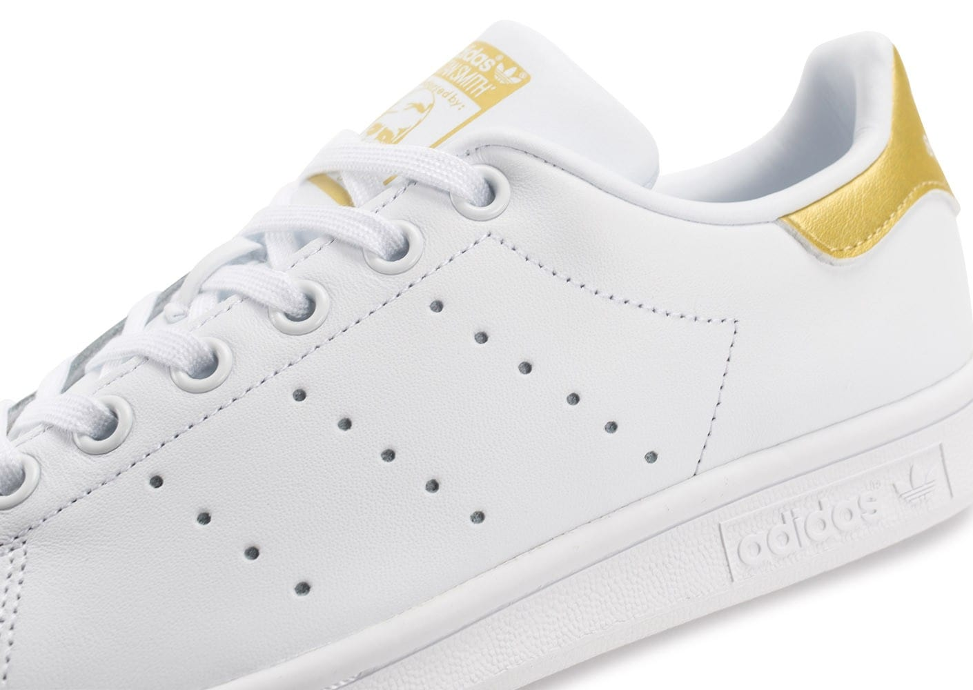 adidas Stan Smith Junior blanche et or Chaussures adidas
