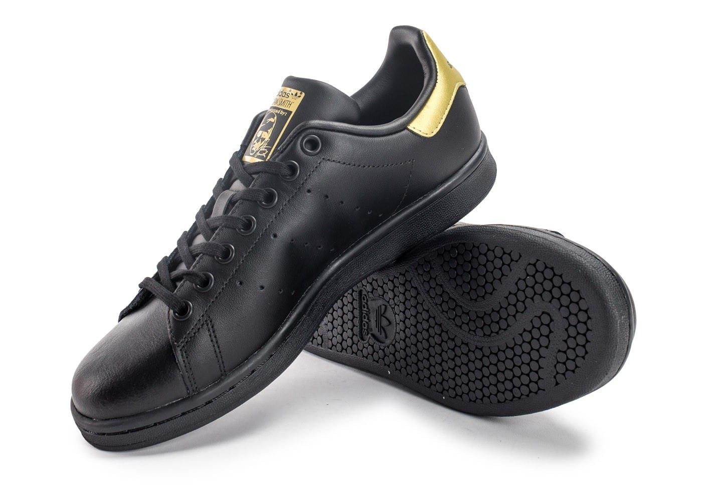 adidas Stan Smith Junior noire et or - Chaussures adidas ...