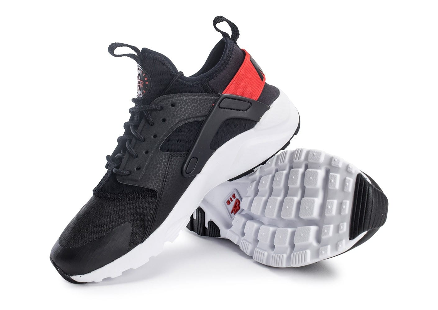 best website e3f3b f4225 denmark huarache ultra rouge and noir d0304 08b8d