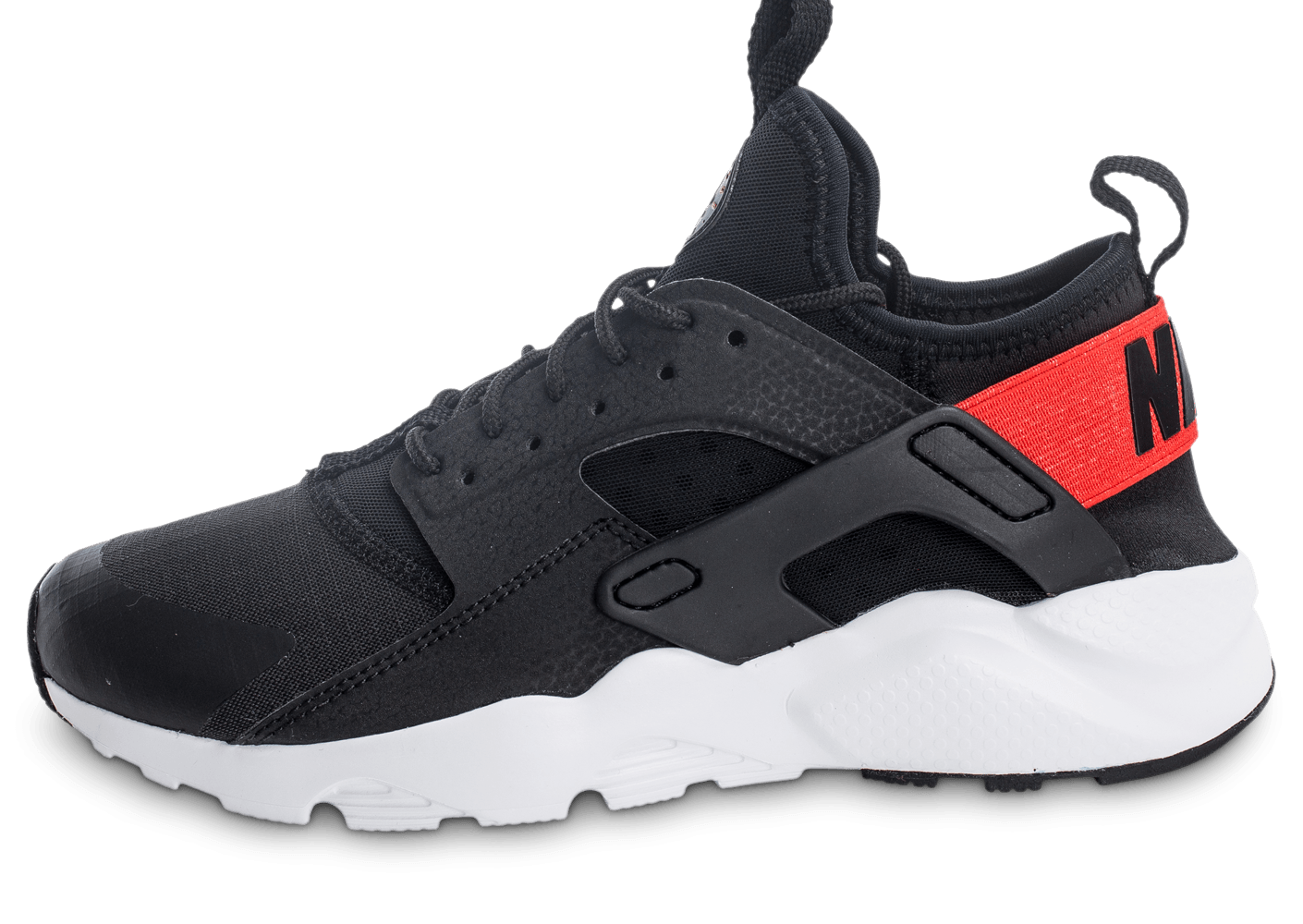 newest 95bcc 7e5e7 Nike Air Huarache Run Ultra Junior noir et rouge - Chaussures Enfant -  Chausport