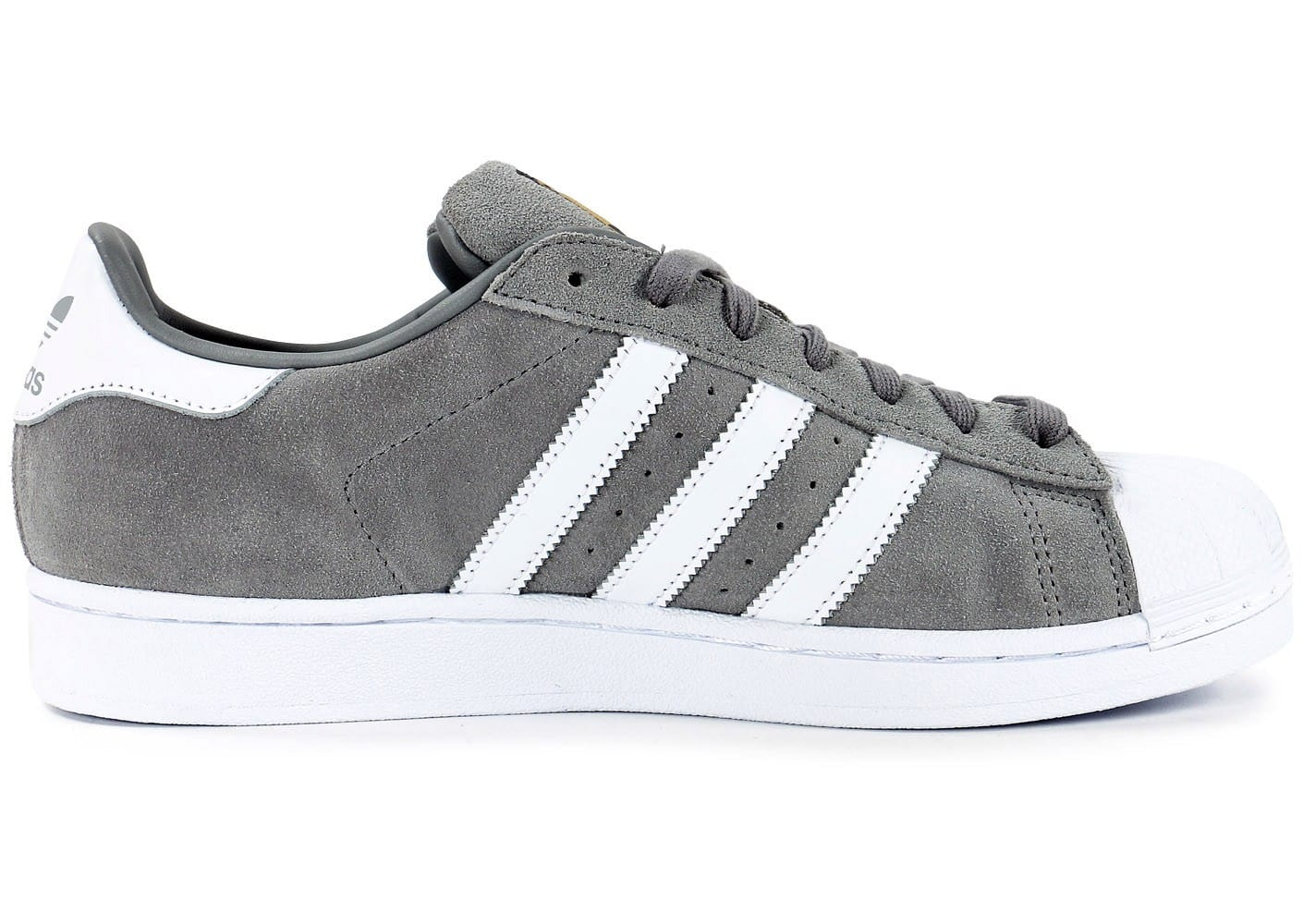 ... Chaussures adidas Superstar Suede grise vue dessous ...