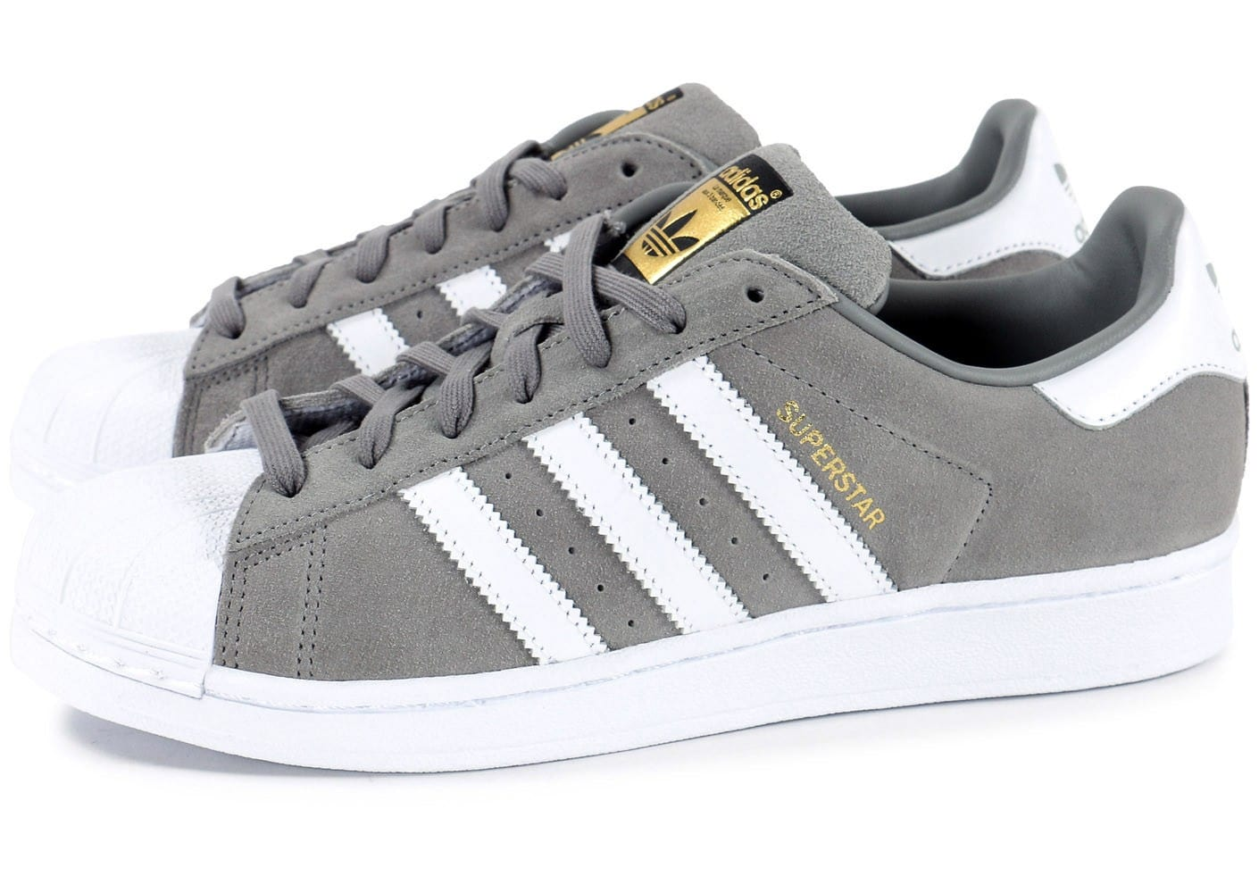 superstar adidas enfant grise