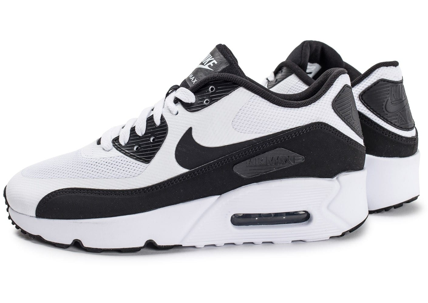 the best attitude acce2 35eee Cliquez pour zoomer Chaussures Nike Air Max 90 Ultra 2.0 Junior blanche vue  extérieure ...