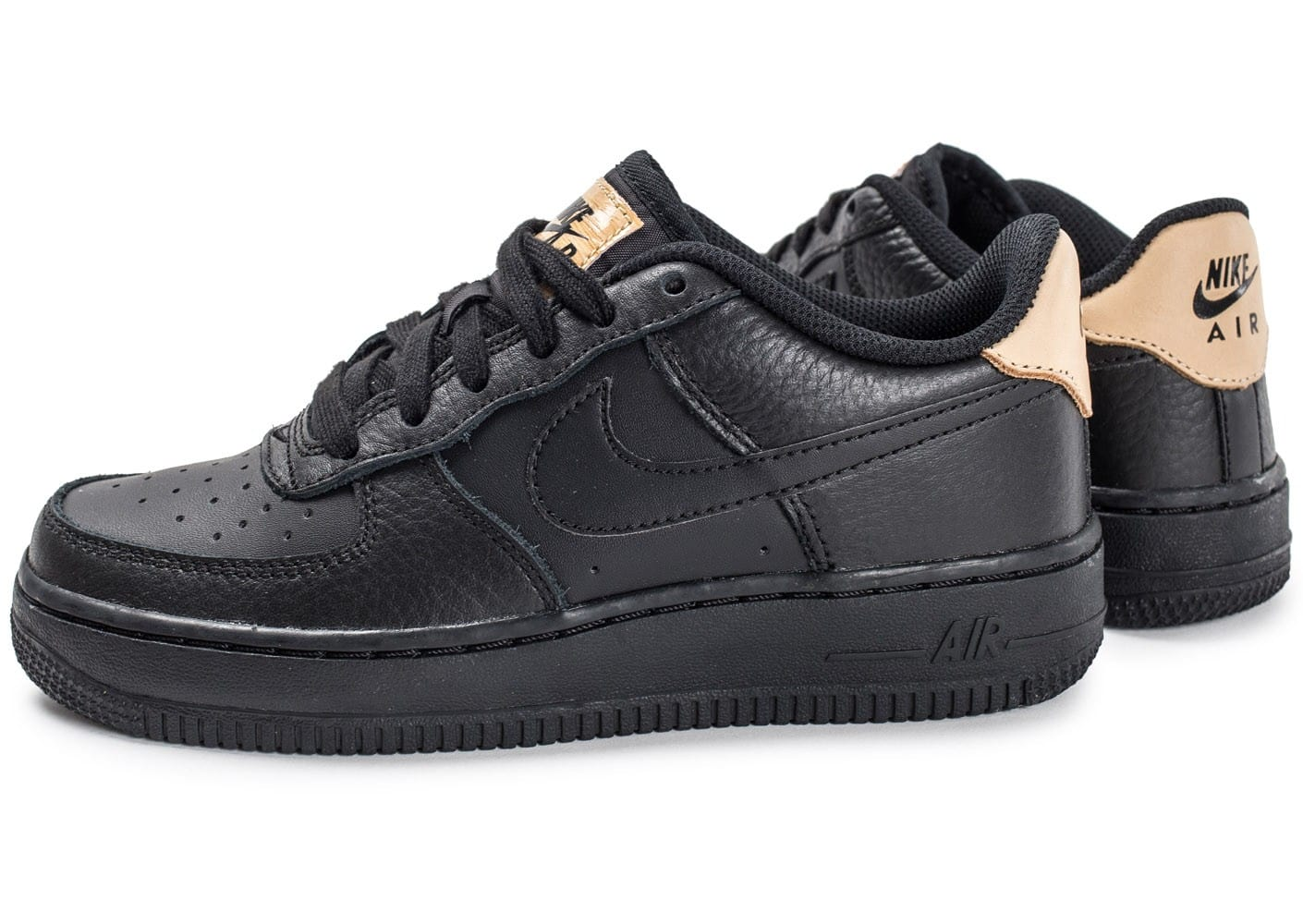 size 40 b917e c440b Nike Air Force 1 (GS), Sneakers Basses Garçon, Noir (Black