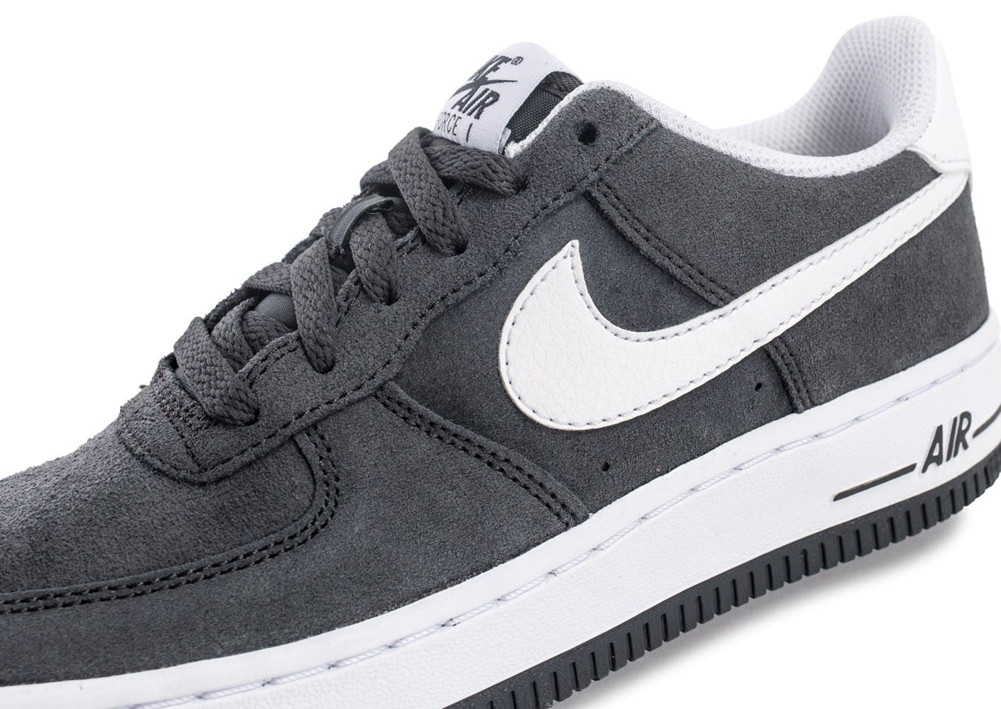 Nike Air Force 1 Suede Junior grise Chaussures Enfant