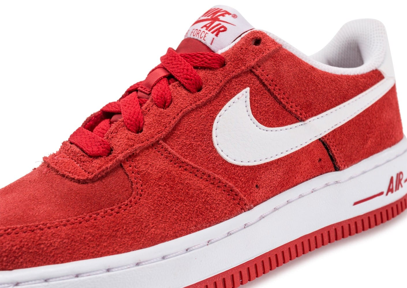 Nike Air Force 1 Suede Junior rouge Chaussures Enfant