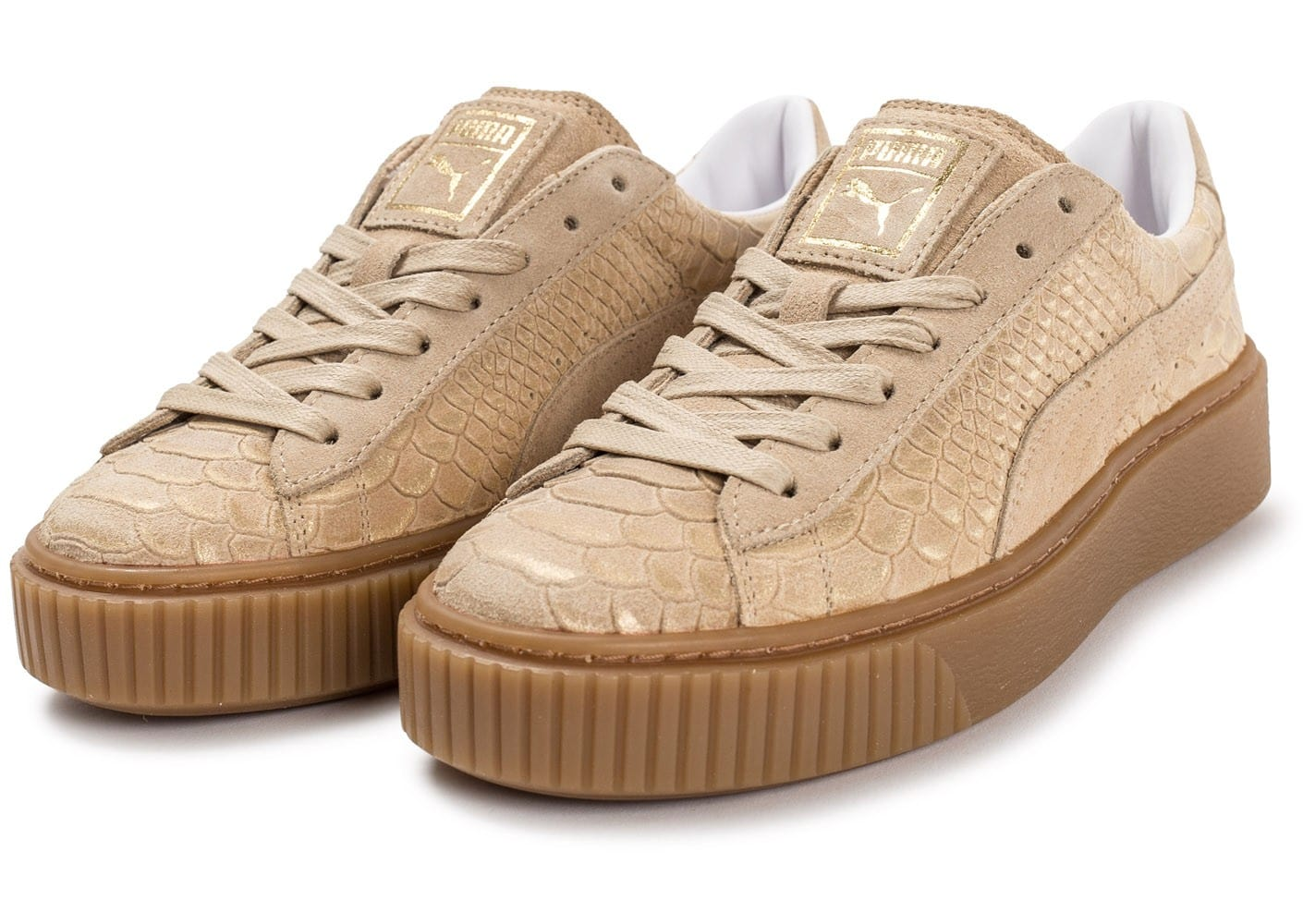 puma creepers beige ecaille