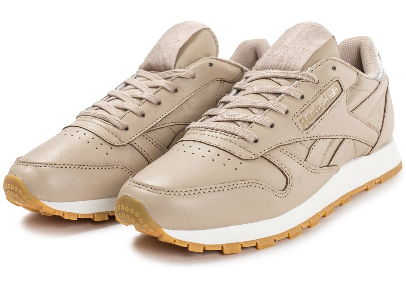 Bons Leather Reebok Gum Chaussures Classic Plans Diamond Beige pYOqf8Yr
