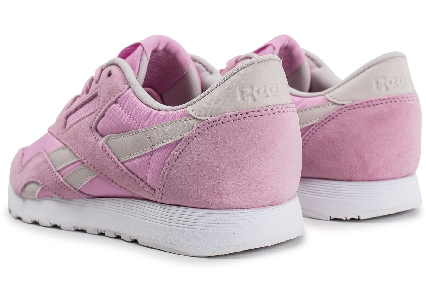 37508bbcd6402 femme Face Classic Stockholm Chaussures Reebok rose Nylon Baskets q01xzwE6