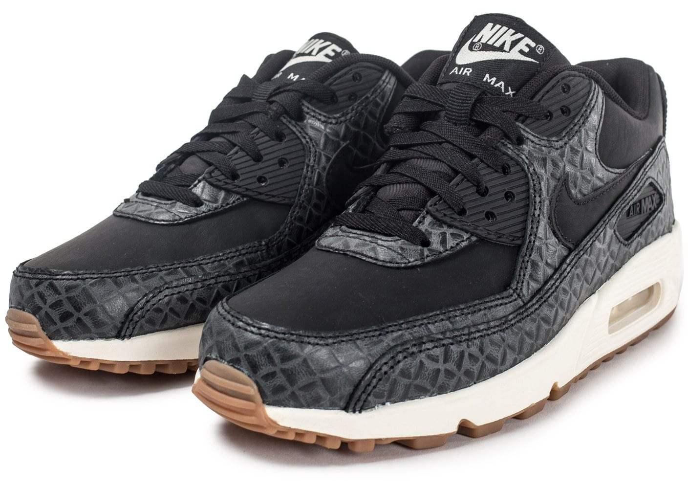 Nike Air Max 90 Em 2014 Rouge Noir Chaussures Homme Air Max 90 Leather Black