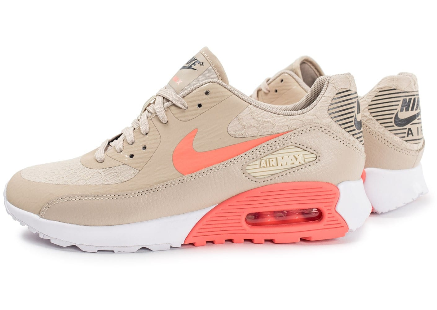 Nike Air Max 90 Ultra 2.0 beige et rose Chaussures Baskets