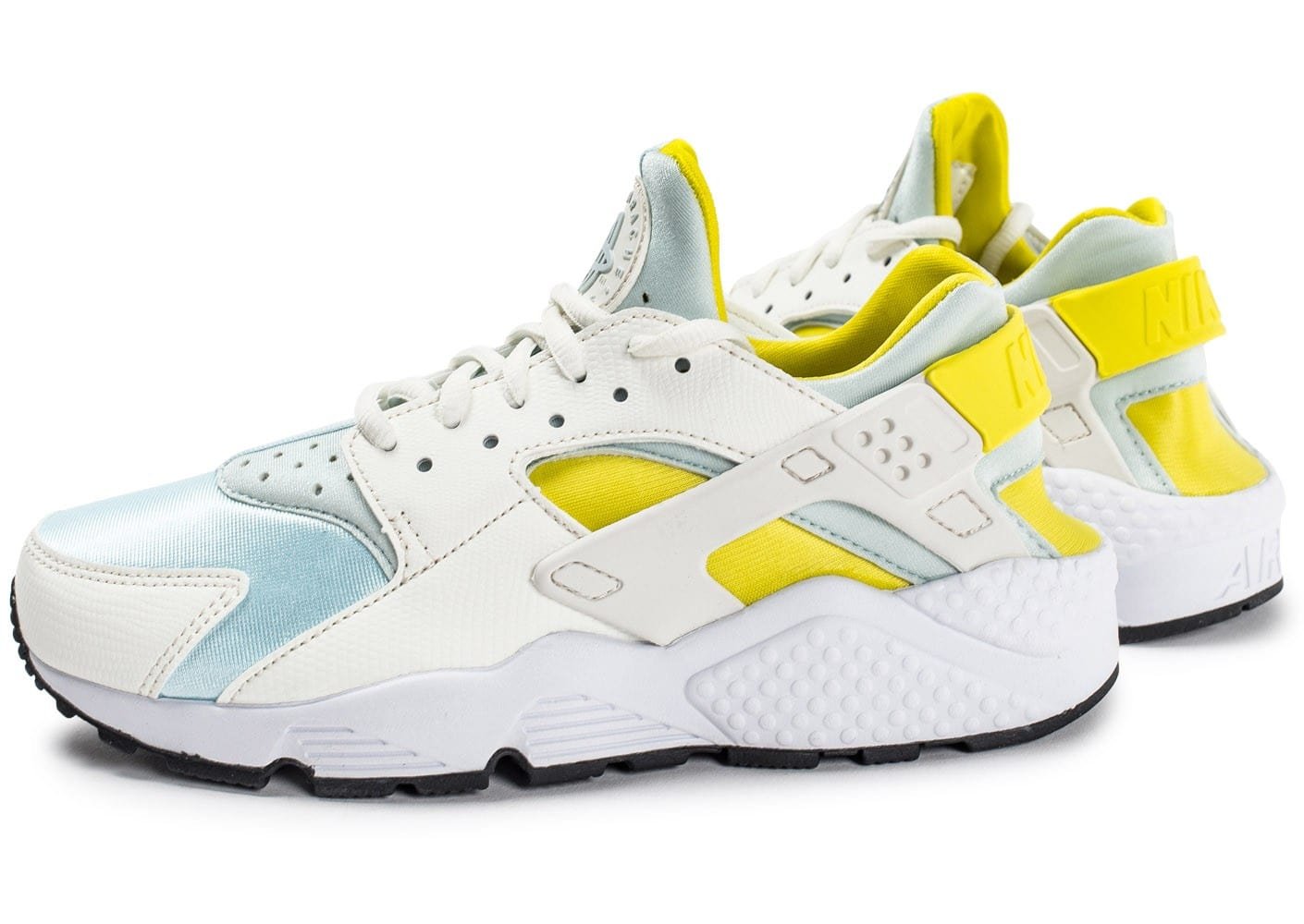 Air Huarache Run Bleu Et Jaune Nike Baskets/Running FemmeNike O5P4pG
