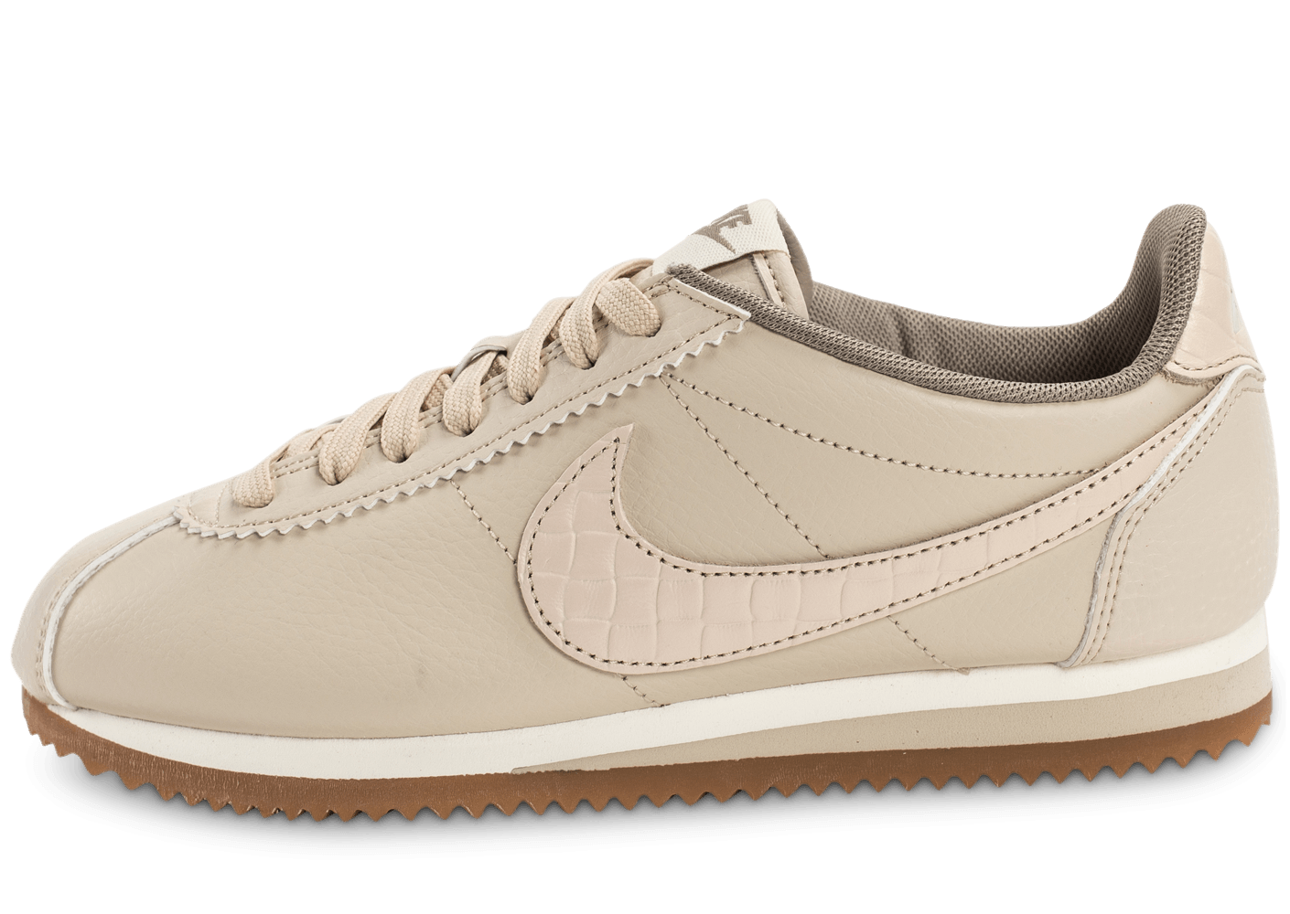 info for 96d43 e217c Nike Classic Cortez Leather Lux beige - Chaussures Baskets femme - Chausport