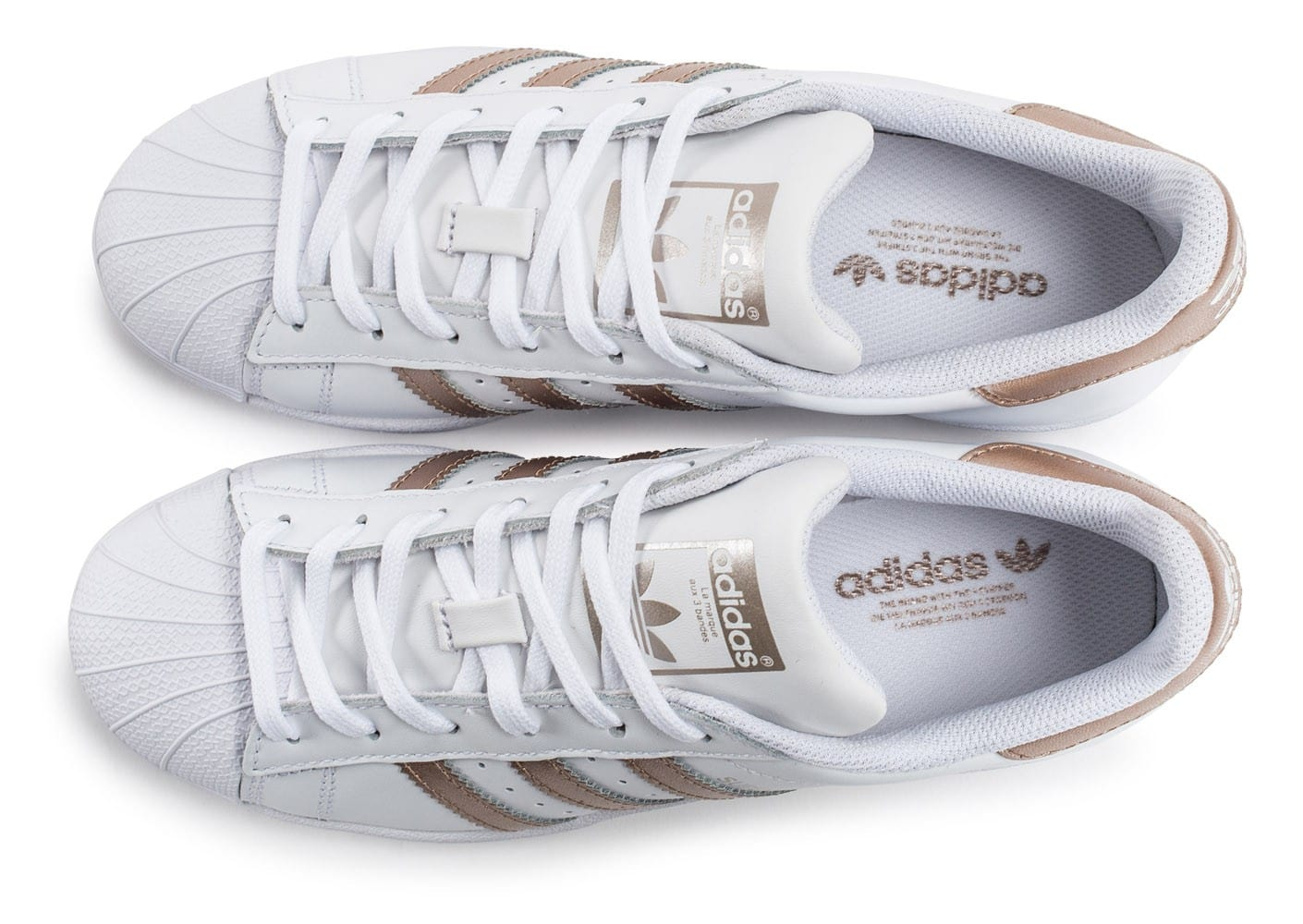 adidas superstar blanche et rose gold