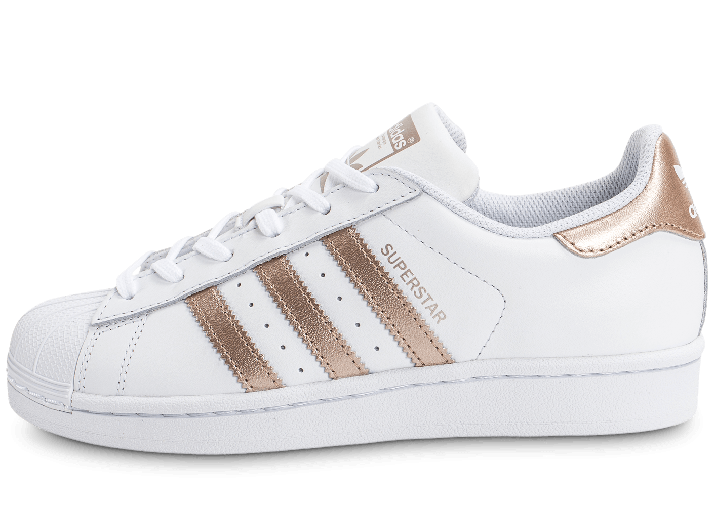 superstar femme adidas rose gold