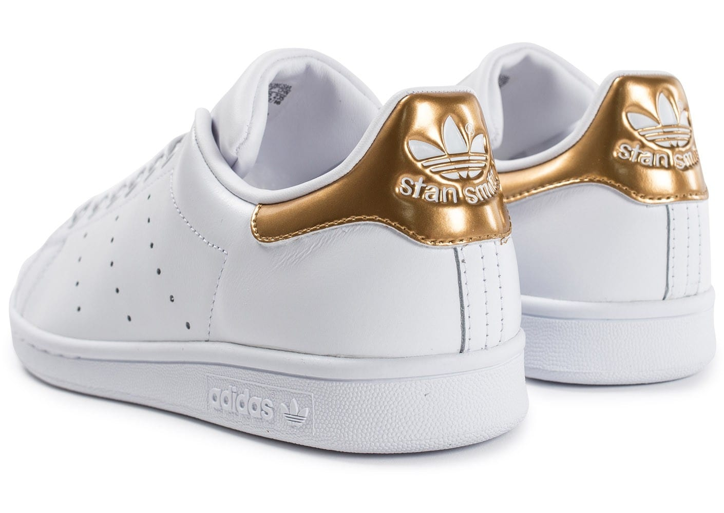 adidas stan smith blanc or