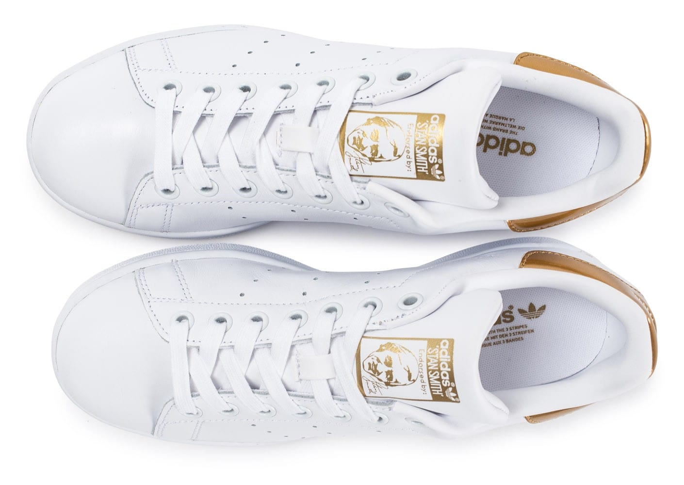 stan smith blanche et or