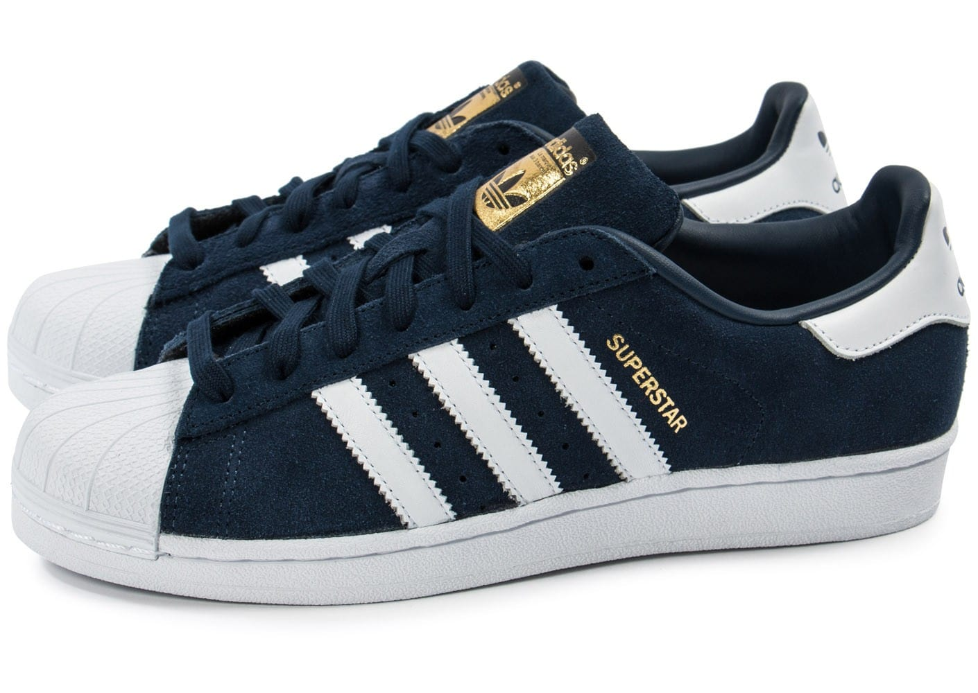 adidas Superstar Suede bleu marine Chaussures Baskets